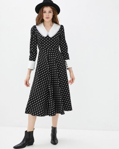 Прямое черное платье А-силуэта Imocean