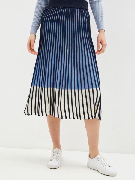 Плиссированная юбка синяя весенняя Tom Tailor