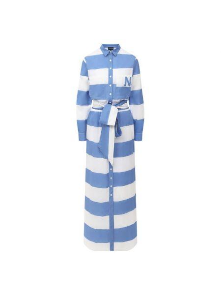 Хлопковое синее платье Natayakim