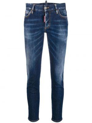 Укороченные джинсы на пуговицах в стиле бохо Dsquared2