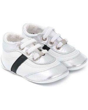 Czarne sneakersy skorzane sznurowane Baby Dior