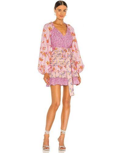 Шелковое розовое платье с подкладкой Loveshackfancy