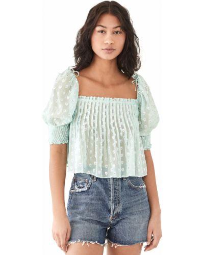 Шелковая блузка с декольте на резинке For Love & Lemons