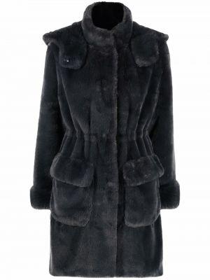Серое пальто из полиэстера P.a.r.o.s.h.