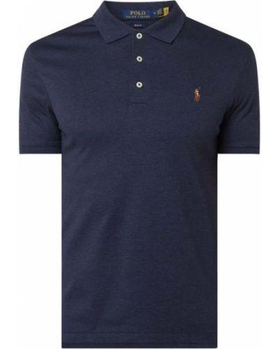 Bawełna niebieski bawełna t-shirt z mankietami Polo Ralph Lauren