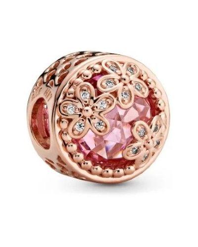 С цирконием серебряный золотой браслет металлический Pandora