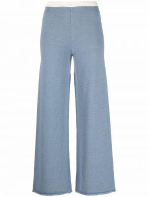 Spodnie wełniane - niebieskie Mm6 Maison Margiela
