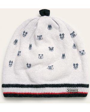 Biała czapka wełniana Jamiks