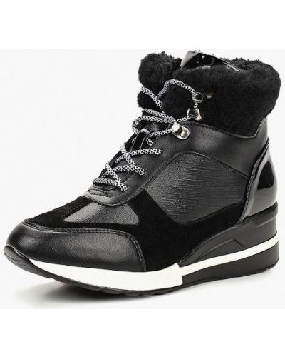 Кожаные ботинки осенние черные Chezoliny