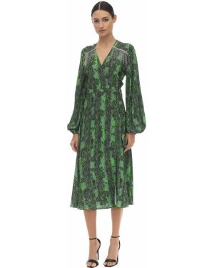 Платье миди с принтом - зеленое Rotate