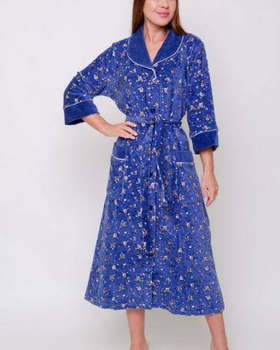 Синий велюровый халат инсантрик