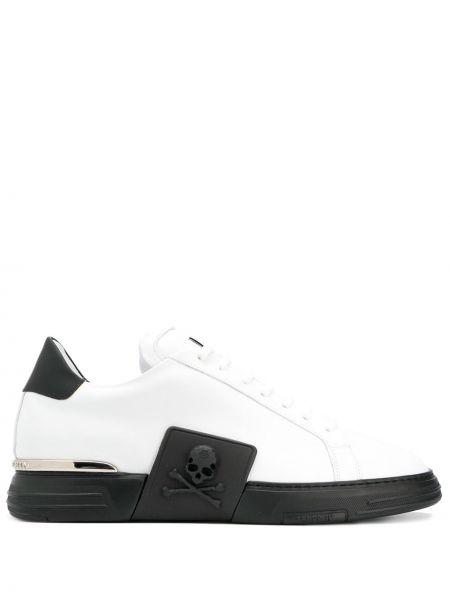 Białe sneakersy skorzane Philipp Plein