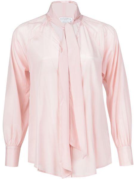 Розовая блузка шелковая Ballantyne