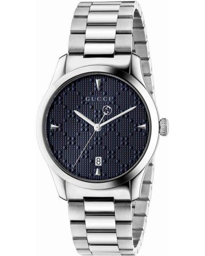 Модные серебряные часы водонепроницаемые Gucci