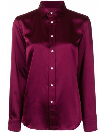 Koszula z jedwabiu - fioletowa Polo Ralph Lauren
