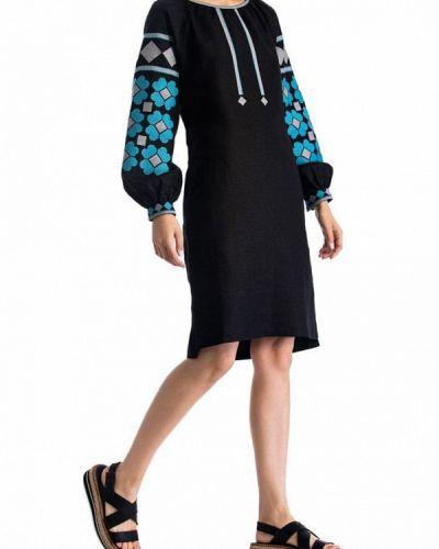 Черное повседневное платье Etnodim
