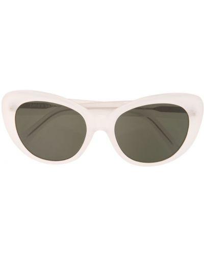 Белые солнцезащитные очки Linda Farrow