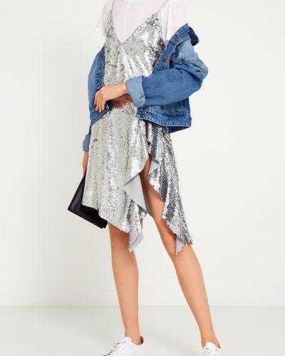 Платье с декольте на тонких бретелях Mo&co
