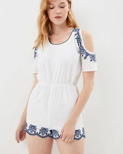 Комбинезон с шортами индийский белый Jennyfer