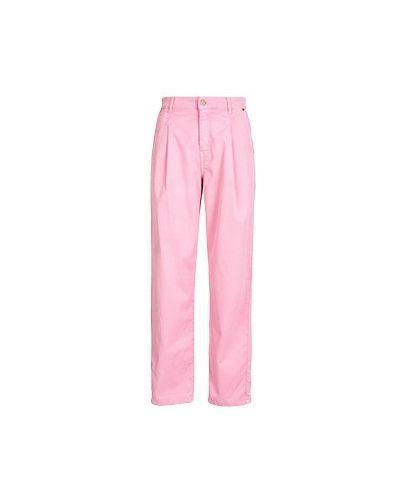 Хлопковые розовые прямые брюки Essentiel