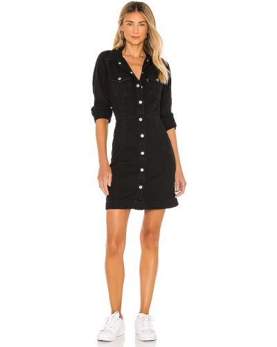 Хлопковое черное джинсовое платье на пуговицах Levi's®