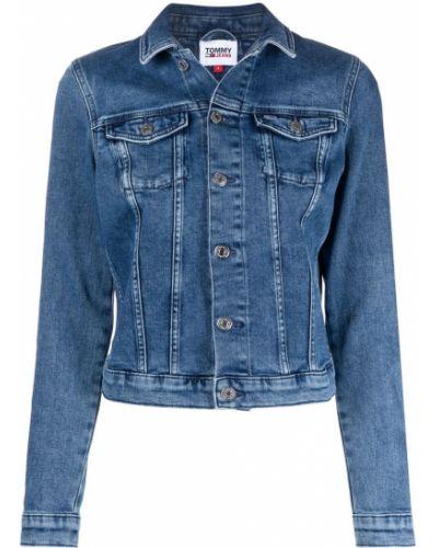 Ватная синяя джинсовая куртка с воротником Tommy Hilfiger