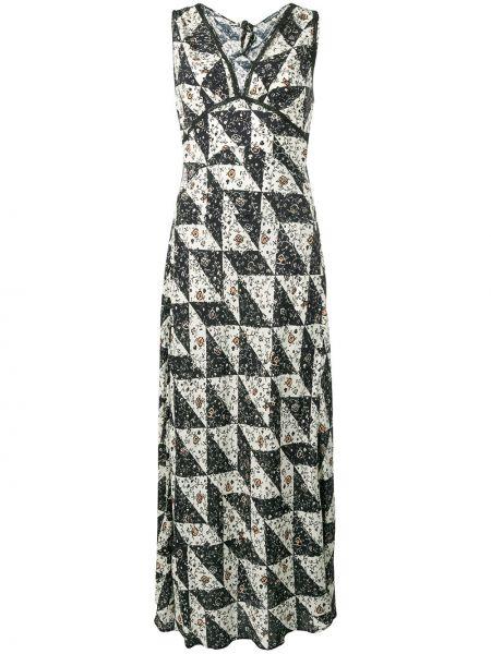 Черное платье с V-образным вырезом на шнуровке без рукавов Alexa Chung