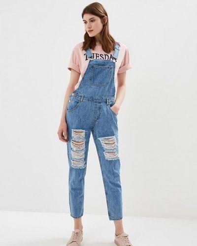 Голубой джинсовый комбинезон Incity