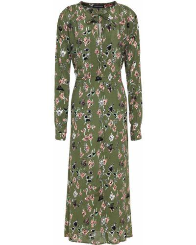 Платье миди на пуговицах - зеленое Markus Lupfer