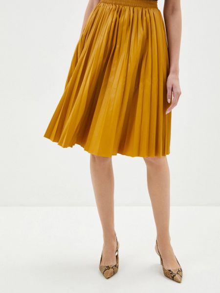 Кожаная юбка весенняя желтый Shelter