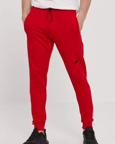 Czerwone spodnie bawełniane 4f