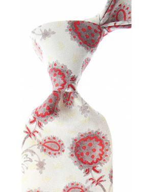 Czerwony krawat z jedwabiu Christian Lacroix
