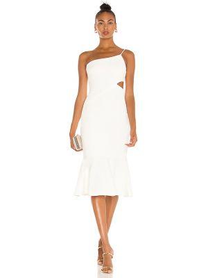 Текстильное белое платье миди на молнии Likely