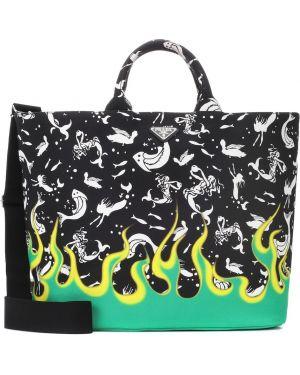 Пляжная сумка с леопардовым принтом сумка-тоут Prada