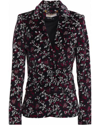 Бархатный черный пиджак с подкладкой Michael Michael Kors