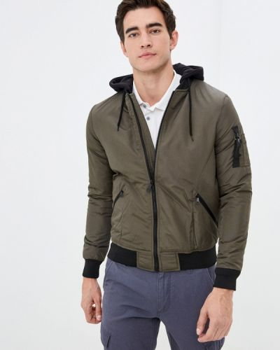Теплая утепленная куртка хаки Defacto