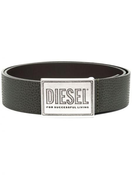 Pasek skórzany z paskiem klamry Diesel