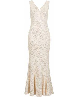 Вечернее платье макси бежевое Bonprix