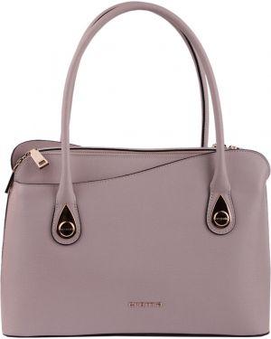 Кожаная сумка - бежевая Cromia