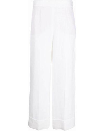 Свободные белые укороченные джинсы свободного кроя Incotex