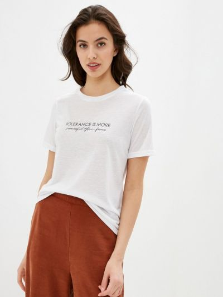 Белая футболка с короткими рукавами Zarina
