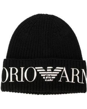 Черная кепка Emporio Armani Kids