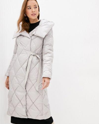 Бежевая теплая утепленная куртка Lusio