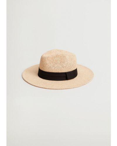 Beżowy kapelusz Mango