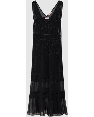 Черное платье макси Twin-set