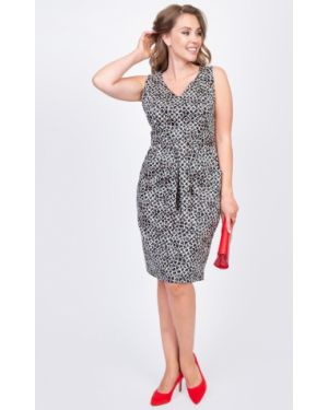 Платье на молнии с карманами с вырезом со шлицей Diolche