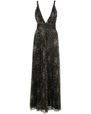 Платье плиссированное с V-образным вырезом Jill Jill Stuart
