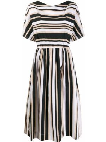 Платье миди в полоску прямое Woolrich
