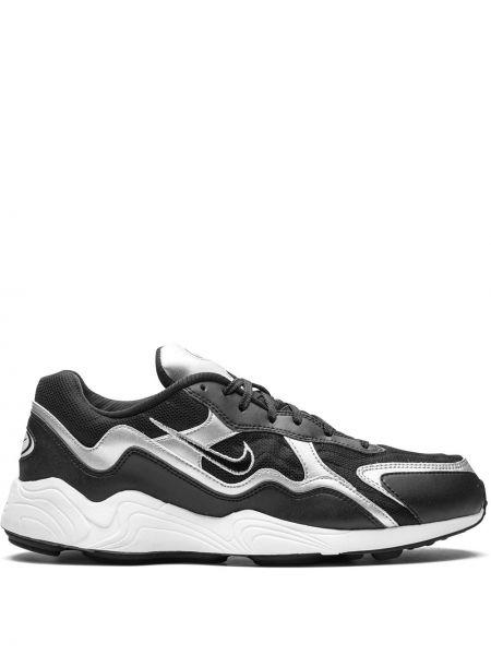 Кожаный черный кружевной топ Nike