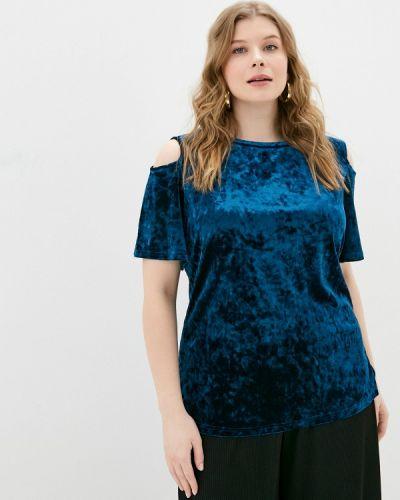 Синяя блузка с короткими рукавами Svesta